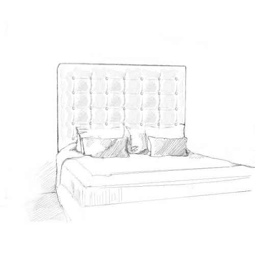 Aurora Headboard and Bed