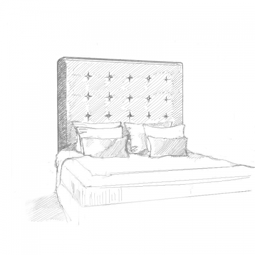 Avoir Headboard and Bed