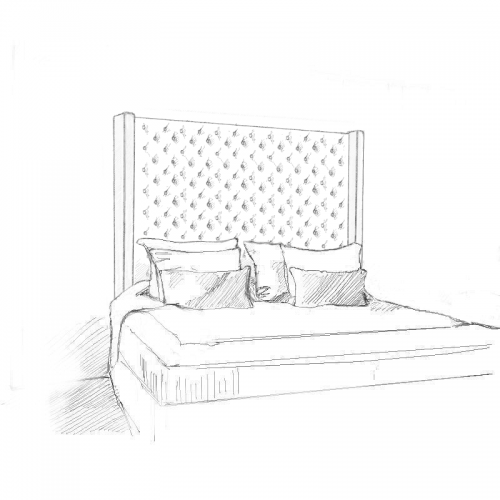 Cygnus Headboard and Storage Bed