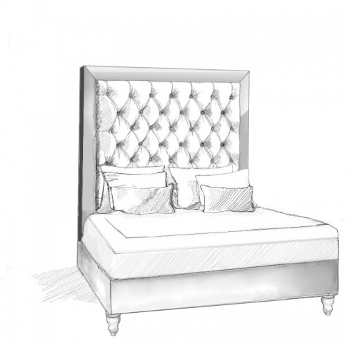Galdana Headboard and Bed