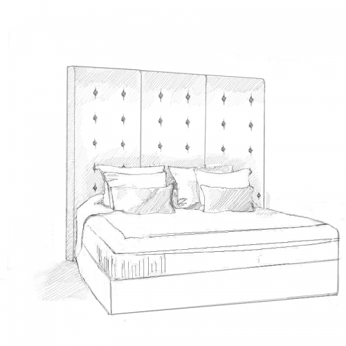 Cassiopeia Headboard and Bed