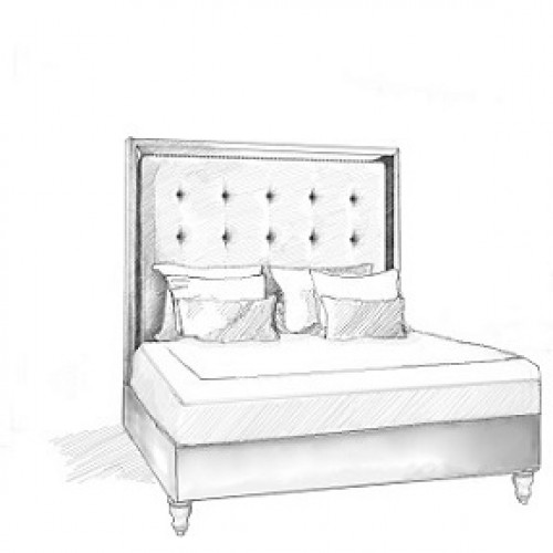 Orisa Headboard and Storage Bed