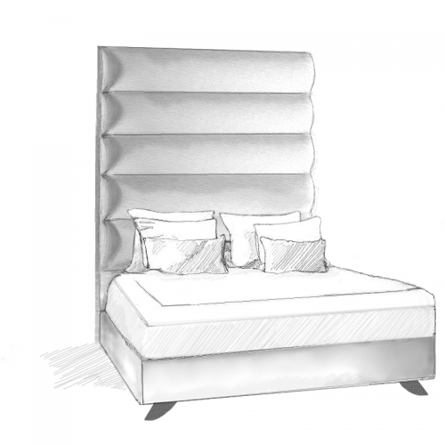 Aquila Headboard and Storage Bed