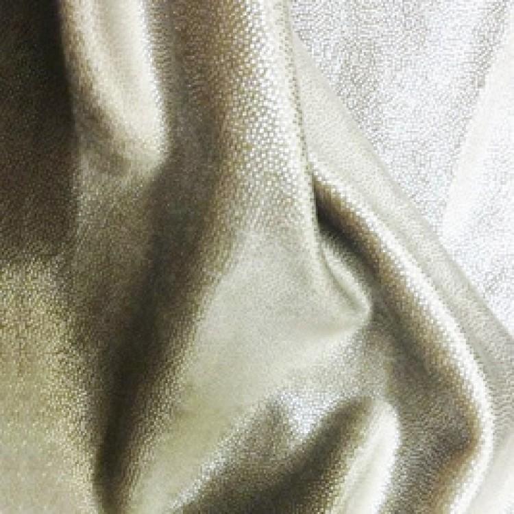 Metallic Linen Silver Fleck