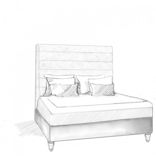 Sansa Headboard and Storage Bed