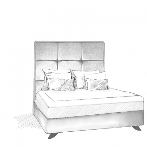 Ferox Headboard and Storage Bed