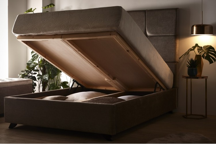 Ferox Headboard and Storage Bed
