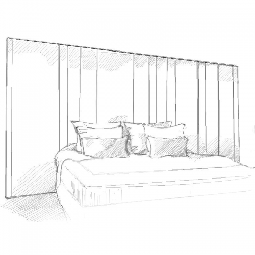 Aether Headboard and Bed